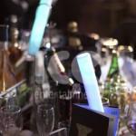 Ice Glows Concerts Events London Bar Club Awards 2012 Table Setting LED Glow Baton