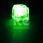 Ice Glows Product Packaging Activated Light Ice Cube Green