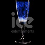 Ice Glows Product Packaging Champagne Flute Glowing Blue