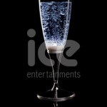 Ice Glows Product Packaging Champagne Flute Glowing White