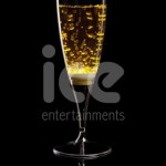 Ice Glows Product Packaging Champagne Flute Glowing Yellow