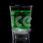 Ice Glows Product Packaging Shot Glass Glowing Green