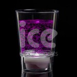 Ice Glows Product Packaging Shot Glass Glowing Purple