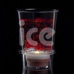 Ice Glows Product Packaging Shot Glass Glowing Red