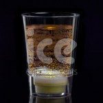 Ice Glows Product Packaging Shot Glass Glowing Yellow